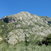 The mountains above Griante, including Nava